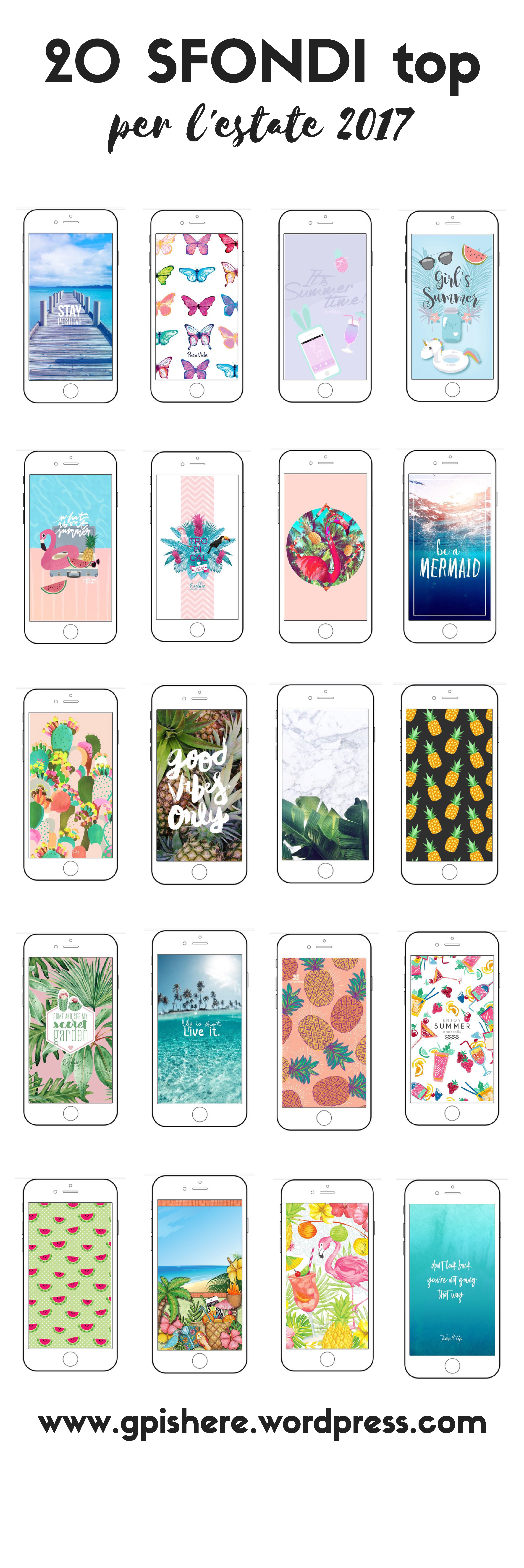 20 Sfondi Top Per Lestate 2017 Iphone Backgrounds Sfondi