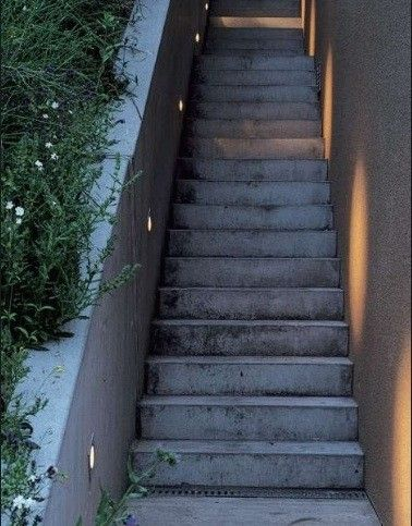 Hardscaping 101 stairway lighting stairway lighting stairways mounted in adjacent walls recessed lights cast a glow sideways across the stairs creating safe stepping and visual interest on a far wall aloadofball Images