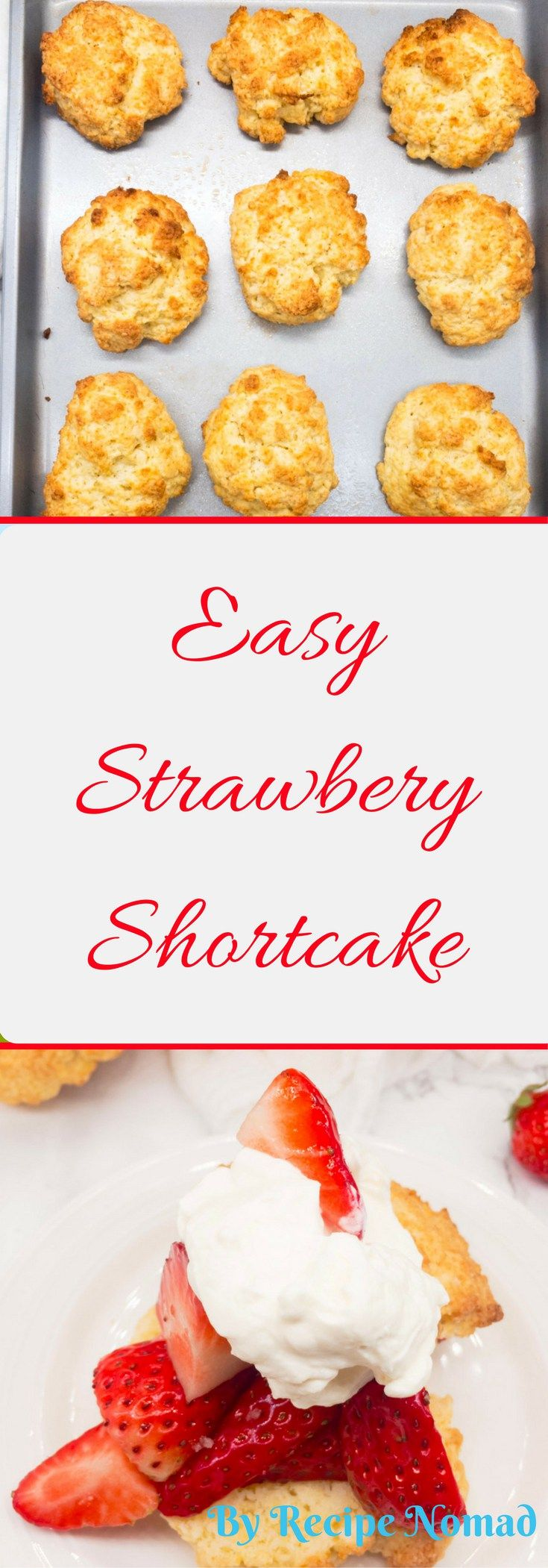 EASY Strawberry Shortcakes are absolutely delicious and so easy! Make the shortcakes in a food processor! Just add lots of strawberries and whipping cream!   http://www.recipenomad.com/easy-strawberry-shortcakes/   Easy Strawberry Shortcakes   Recipe Nomad