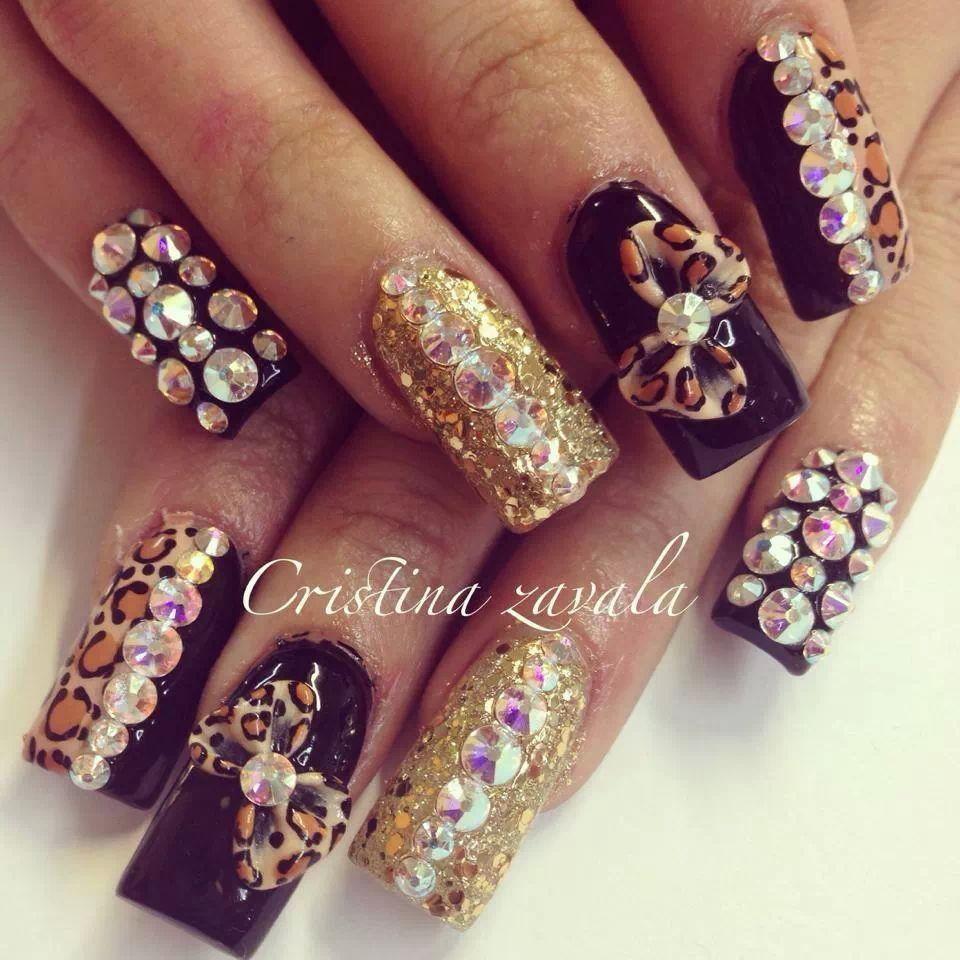 Llamativas with images rhinestone nails nails nail