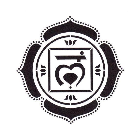 Root Chakra Stencil Yoga Stencil Mylar Stencil Chakra Symbol
