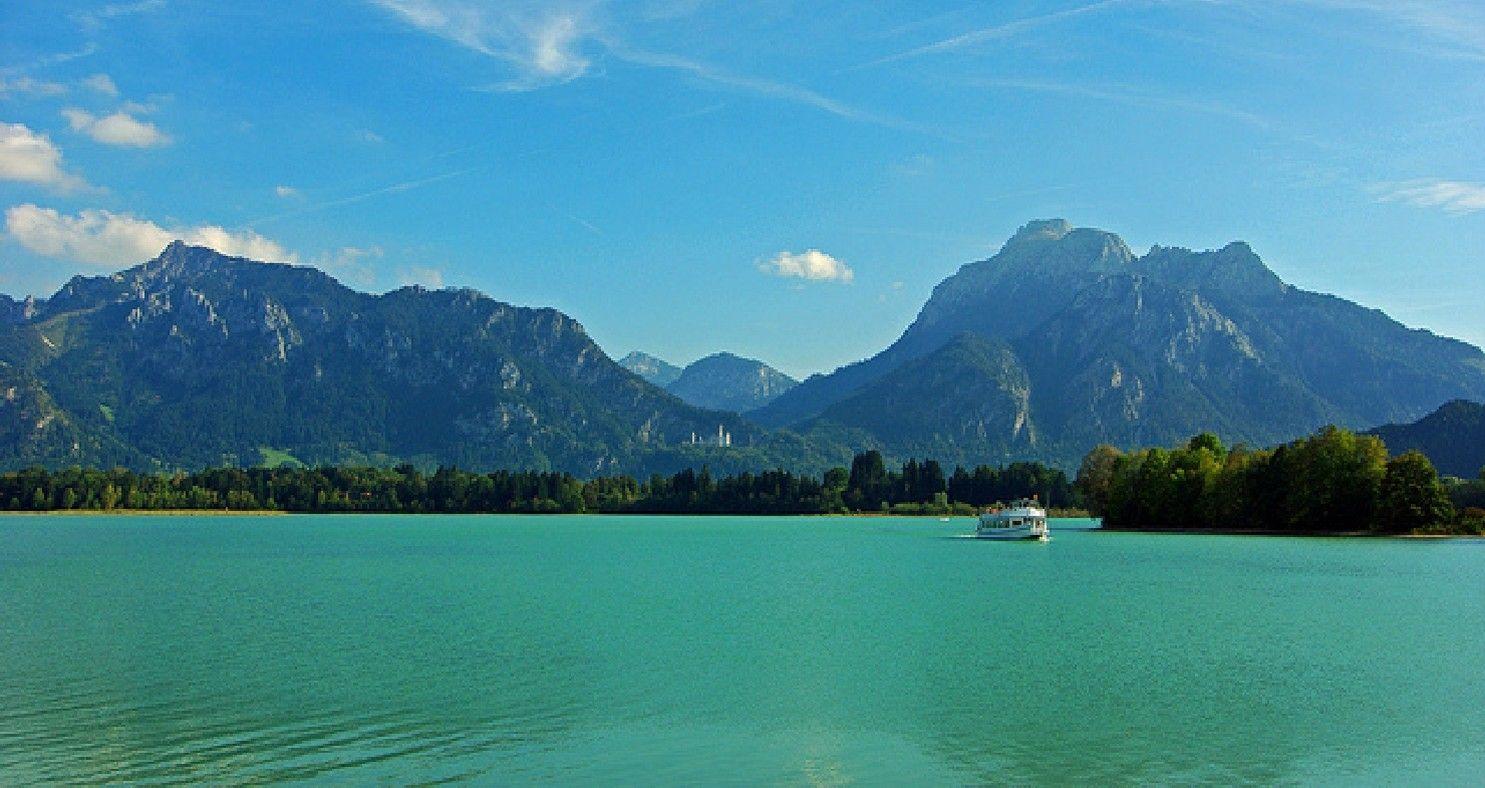 Lake Forggensee Weissensee And Weissensee Hintergrund Landschaft Forggensee Weissensee