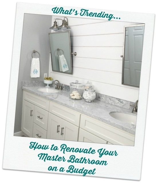 How to Remodel Your Master Bathroom on a Budget Home Pinterest
