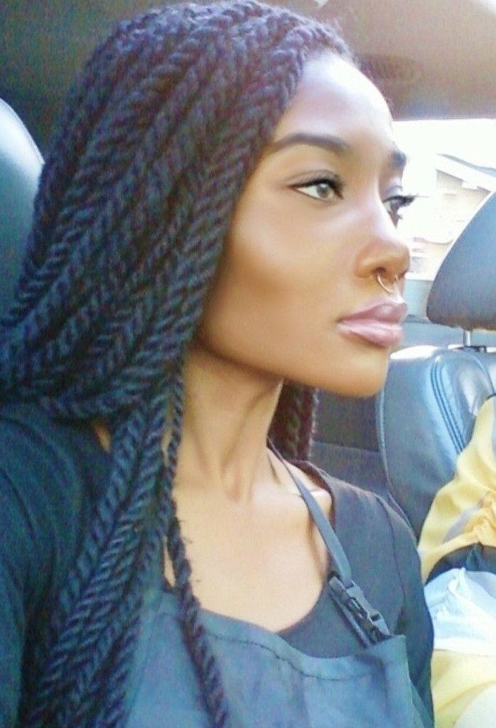 Thin Marley Twists Hair Styles Natural Hair Styles