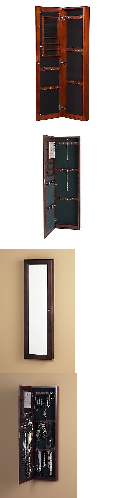Multi-Purpose 168165: Wall Mount Jewelry Mirror - Cherry New BUY IT NOW ONLY: $152.79