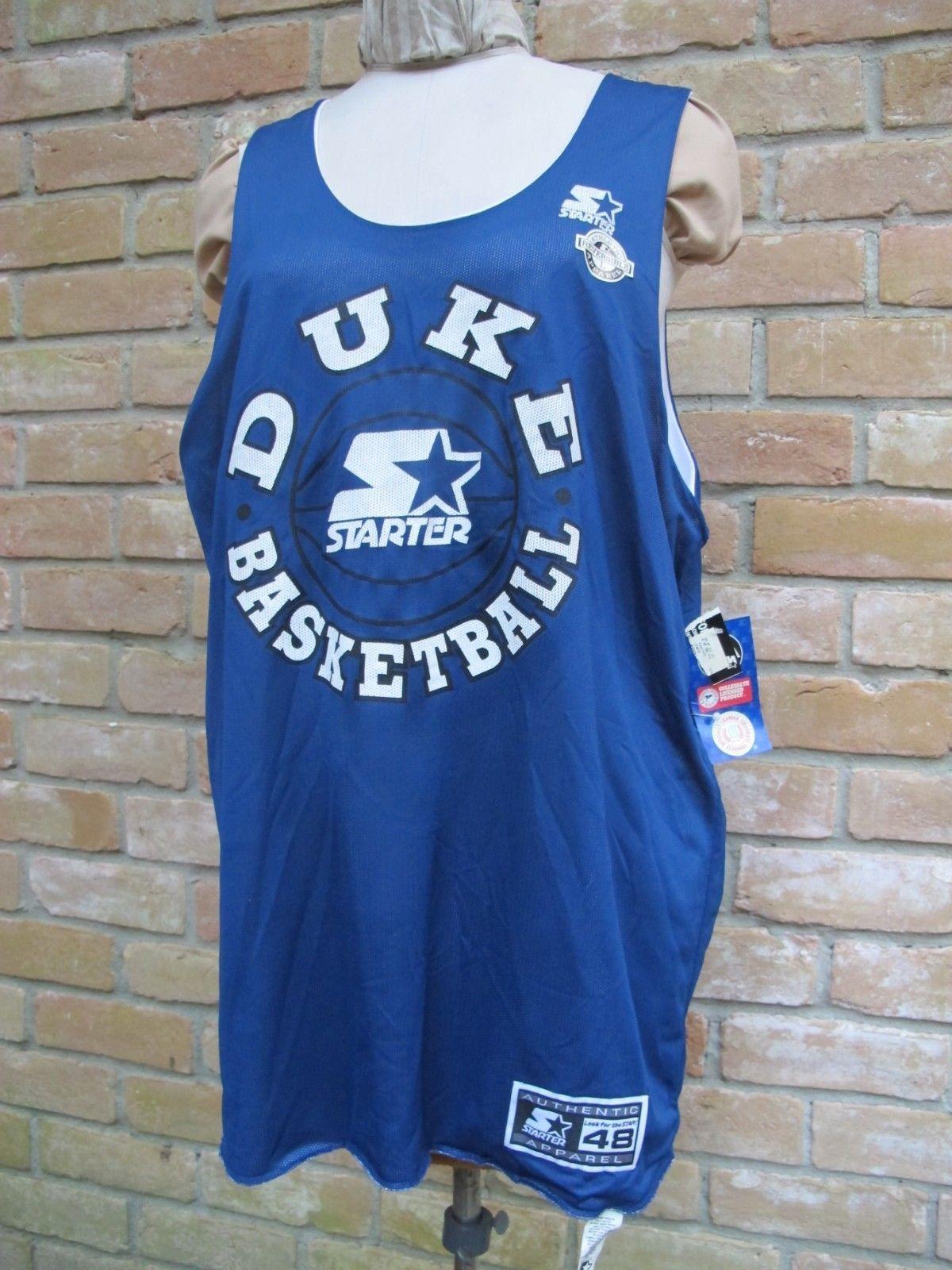 058ae98abfdc NWT   Sticker Reversible STARTER DUKE University BASKETBALL Jersey Size 48