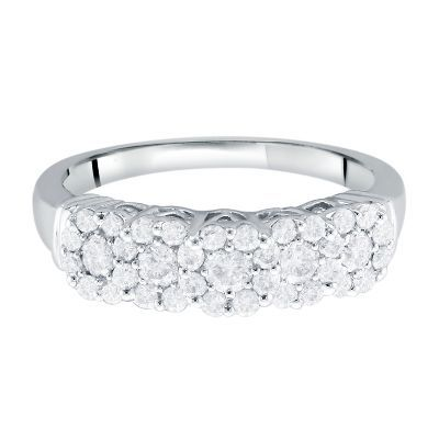 Mirabela® 3/4 ct. tw. Diamond Band in 14K Gold available at #HelzbergDiamonds