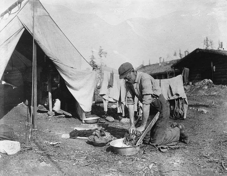 Klondiker Outside of His Tent & Klondiker Outside of His Tent | Historic Dawson City | Pinterest ...