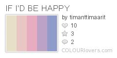 Palette / IF I'D BE HAPPY :: COLOURlovers