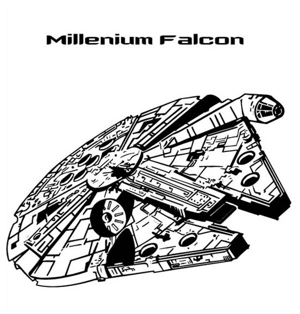 Millenium Falcon In Star Wars Coloring Page Download Print Online Coloring Pages For Free Color Nimbus Star Wars Drawings Star Wars Art Star Wars Tattoo