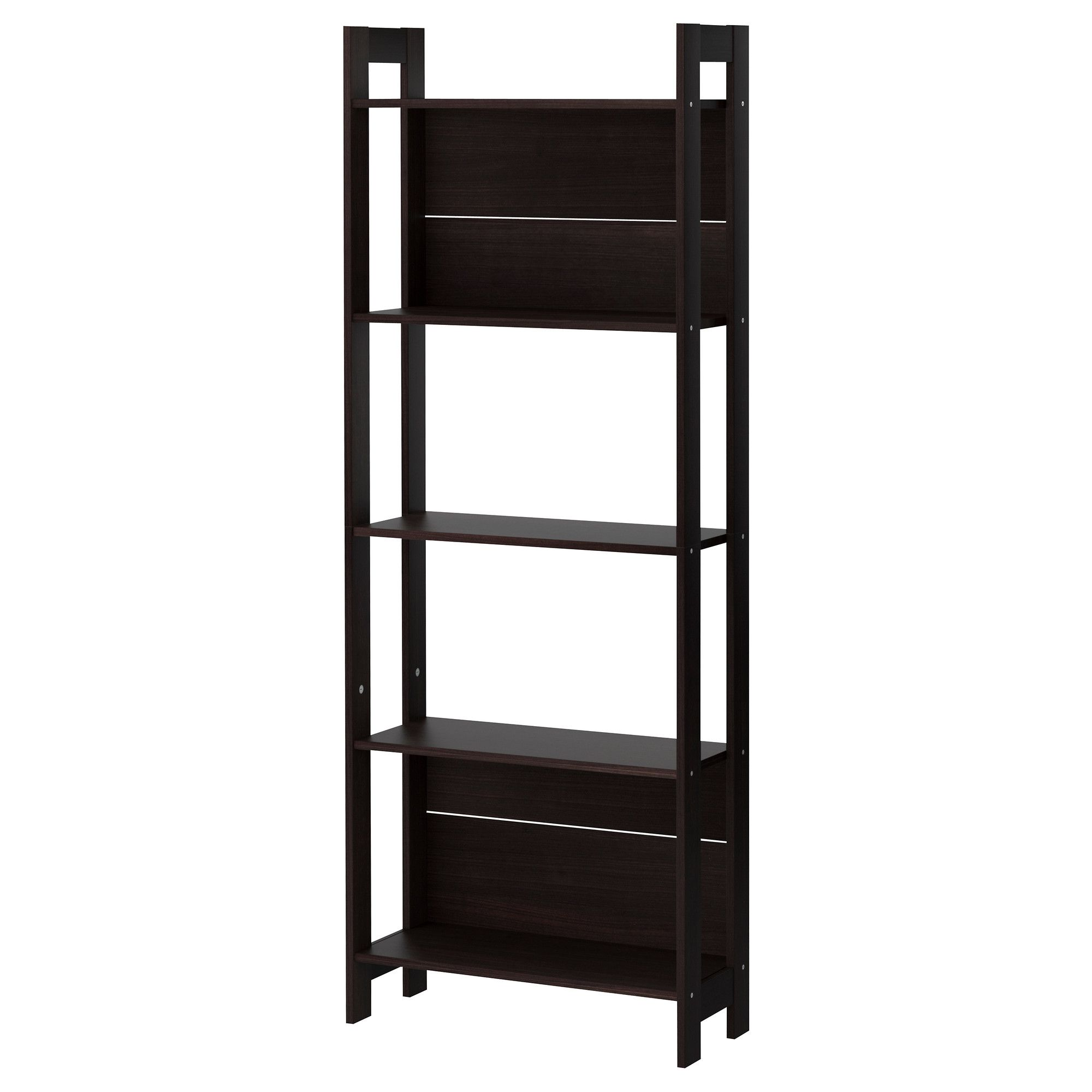 laiva bookcase black brown shelves apartments and living rooms