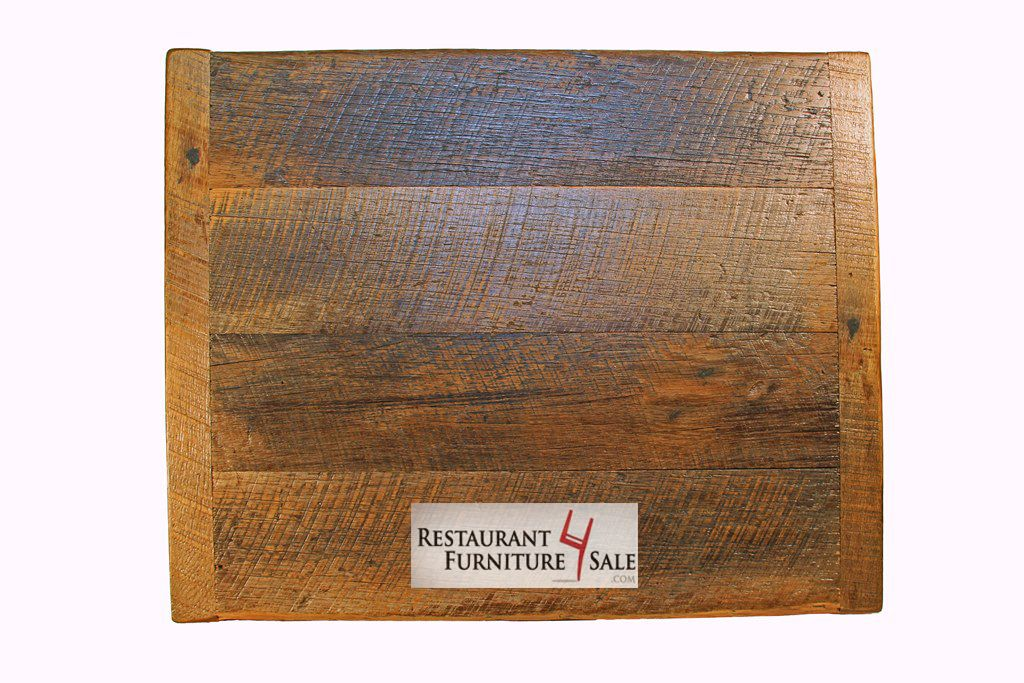 X HandSanded Reclaimed Wood Restaurant Table Top At - 4 top restaurant table