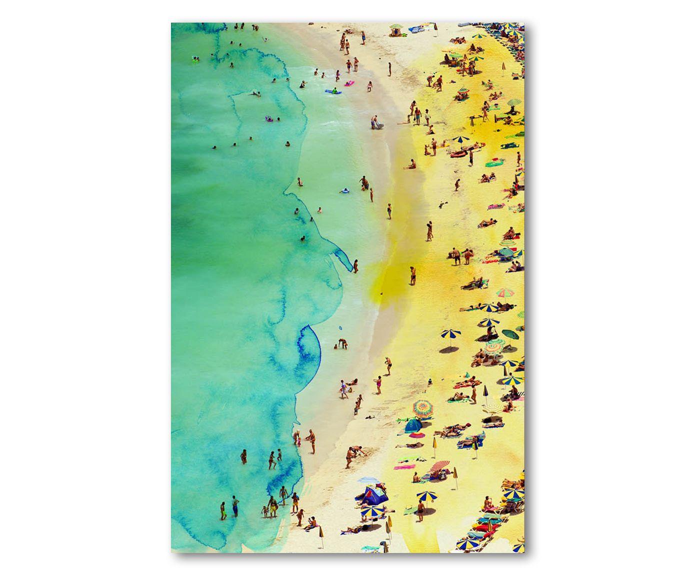 Print op canvas Italian Summer, multicolour, 40 x 60 cm | Westwing Home & Living