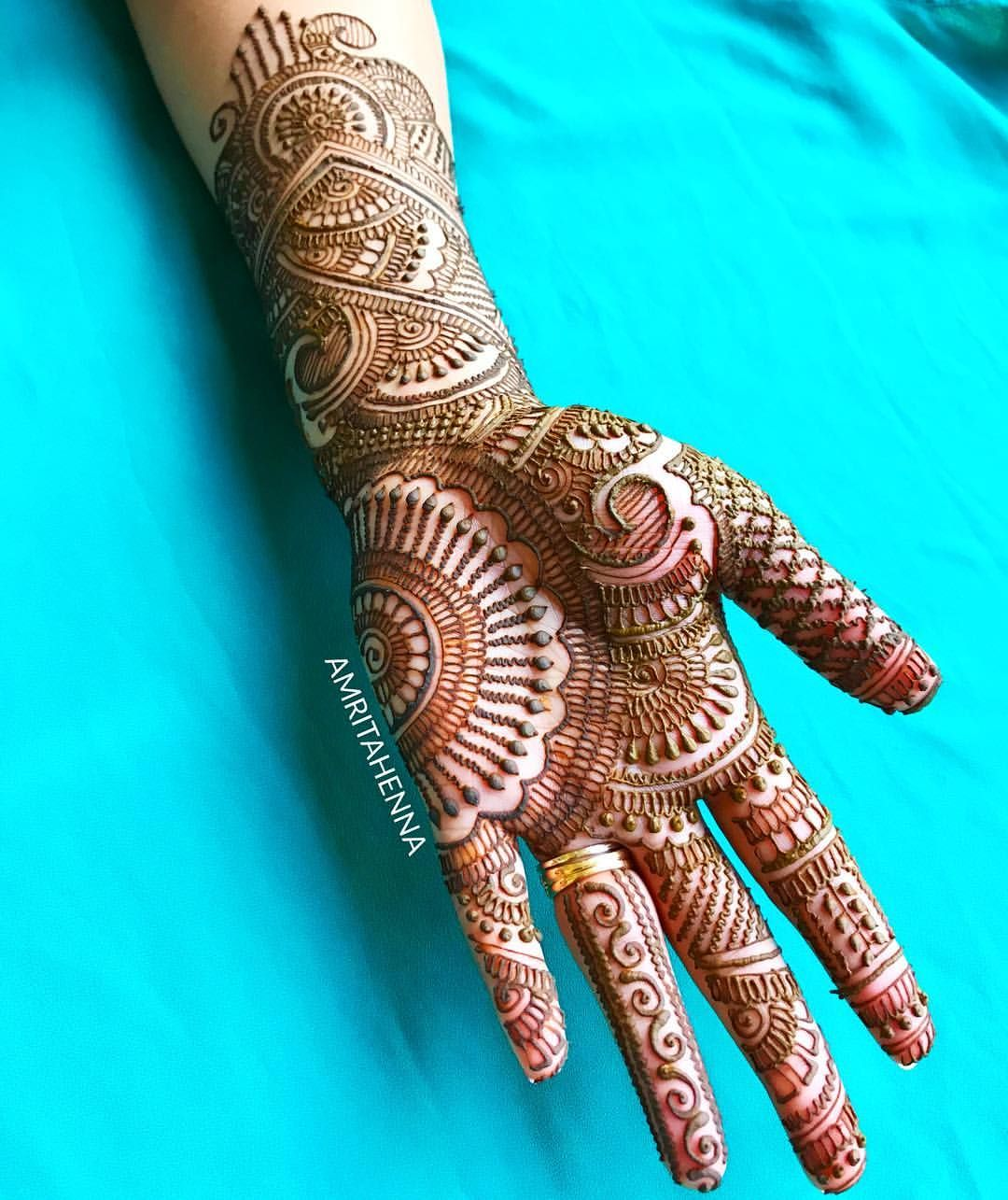 Simple Easy Front Hand Modern Mehndi Designs Full Hand