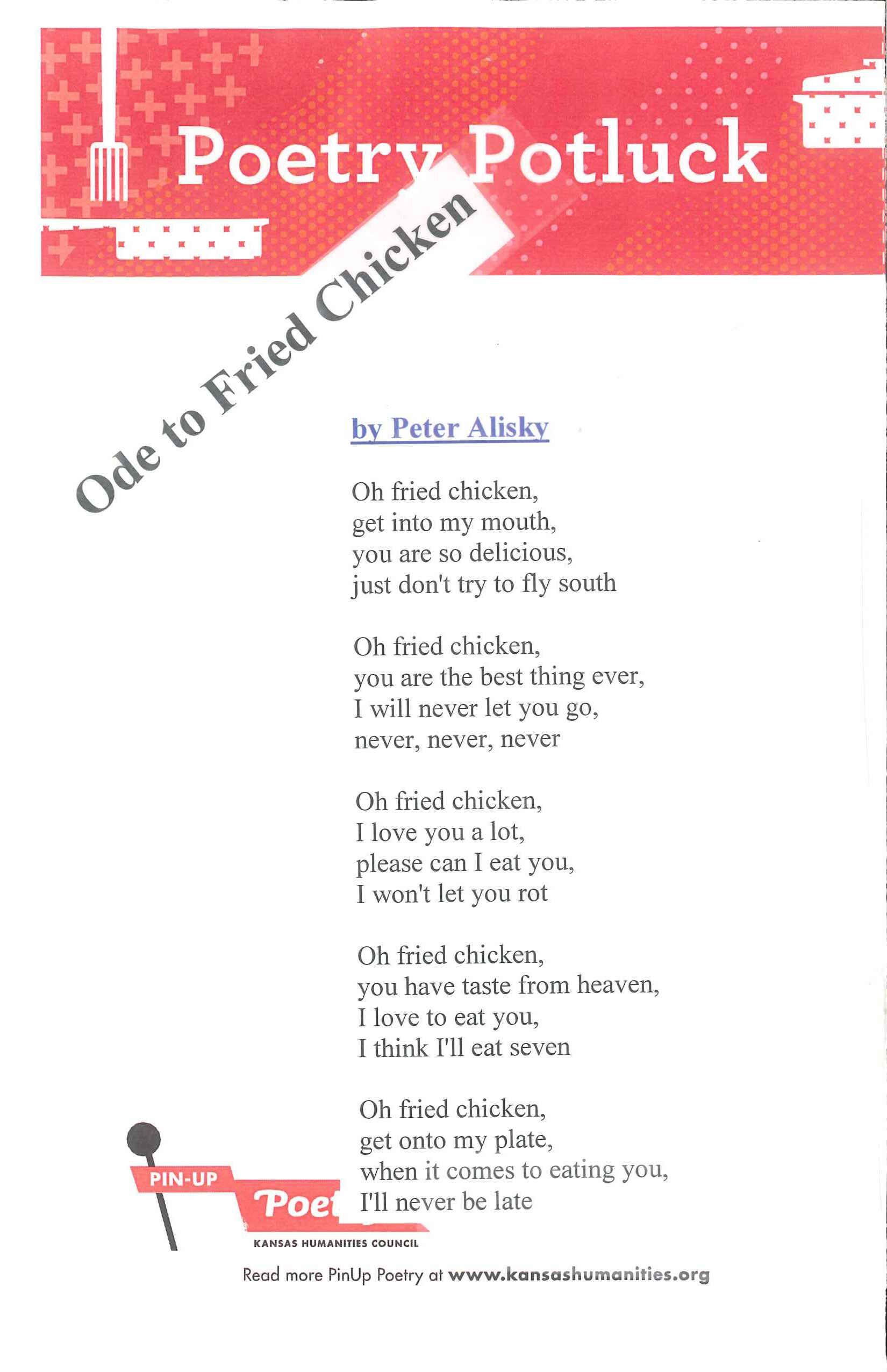 Ode to fried chicken by peter alisky submitted by
