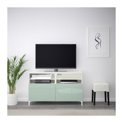 Best Tv Unit With Doors White Selsviken High Glosslight Gray