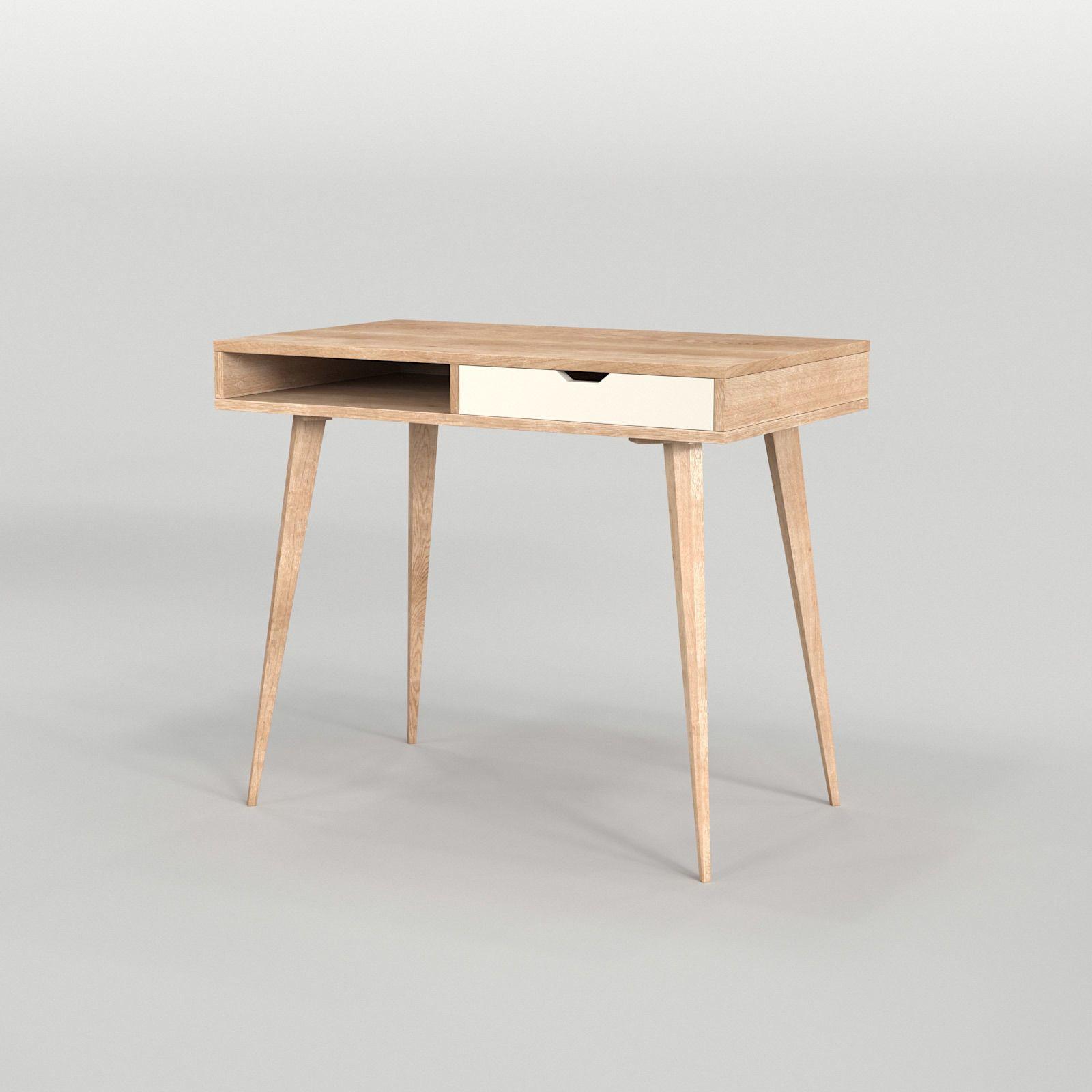 Scandinavian Desk 04 3d Model Scandinavian Desk Scandinavian 3ds Max Models