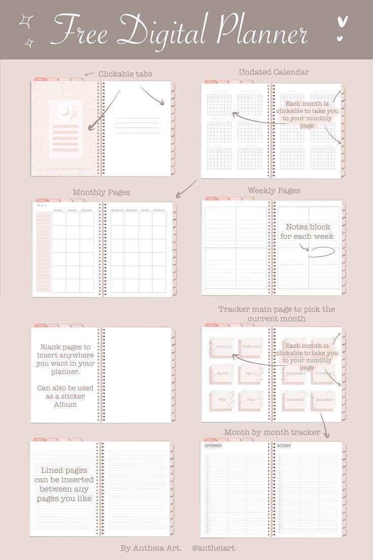 Free Digital Planner Planner Printables Free Digital Paper Free Free Planner