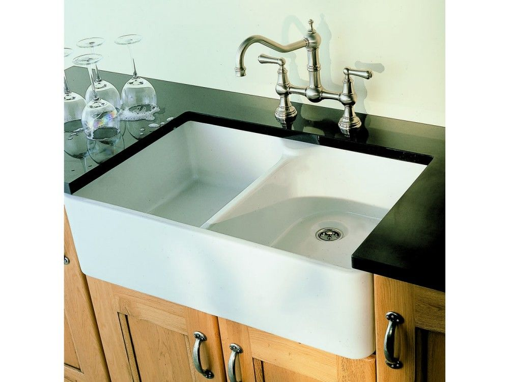 Villeroy and Boch Farmhouse 80 Double Bowl Ceramic Sink | Ceramic ...