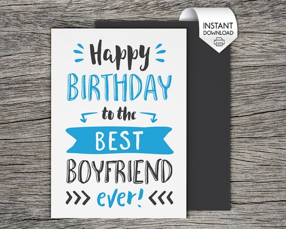 graphic about Printable Birthday Cards for Him known as Printable Birthday Card - Joyful Birthday in direction of the least difficult