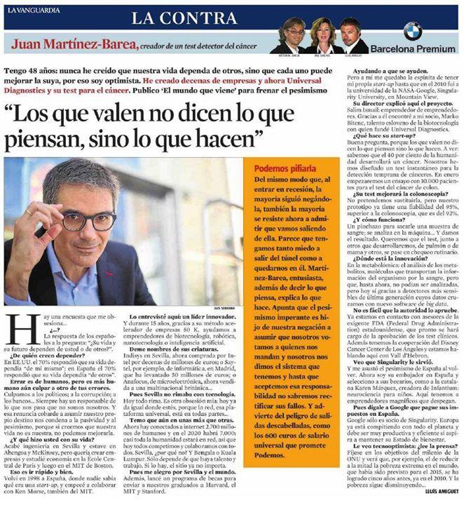 """""""Los que valen no dicen lo que piensan, sino lo que hacen"""" Juan Martínez-Barea"""