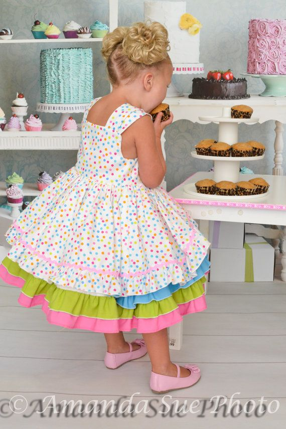 birthday party confection dress baby toddler girls by SoSoHippo