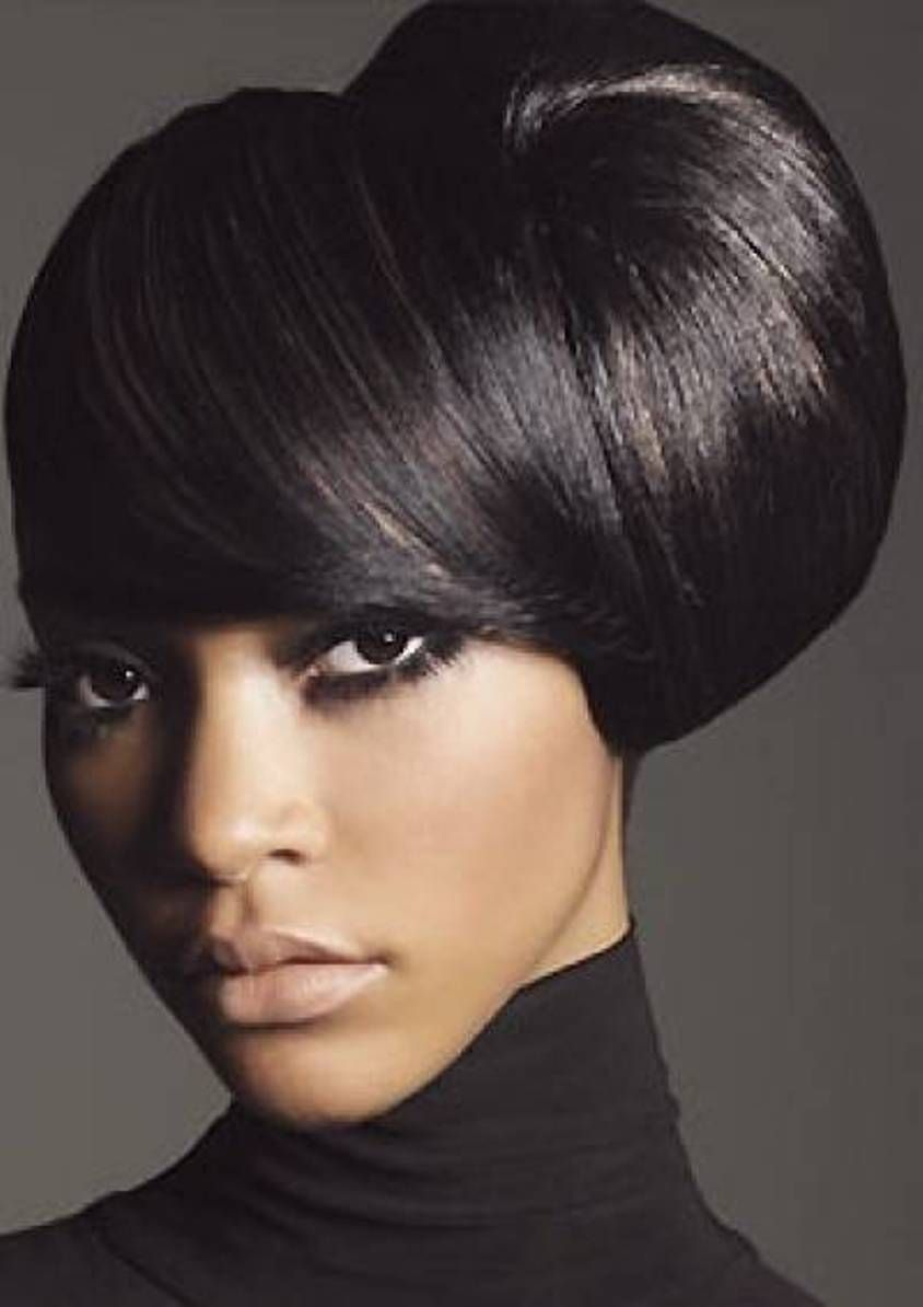 Side updo medium hairstyles for african american women medium black hair updos daily hairstyles new short medium long pmusecretfo Images
