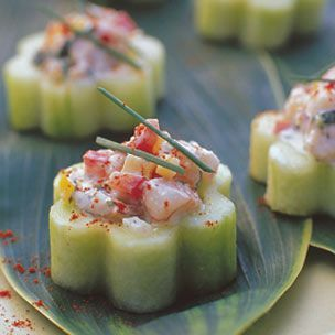 "Get the ""Best Supporting Spread"" award from your guests this Sunday for the 84th Annual Academy Awards. These red carpet worthy appetizers from Williams-Sonoma.com: Shrimp #Ceviche in Cucumber Cups - Click here for the #recipe: http://bit.ly/zMBX3v"