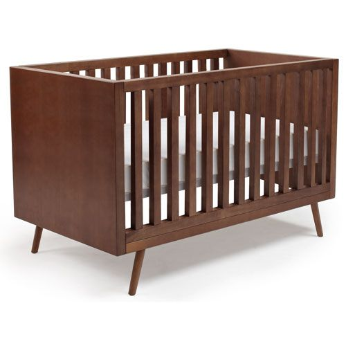 Mid Century Modern Slat Crib