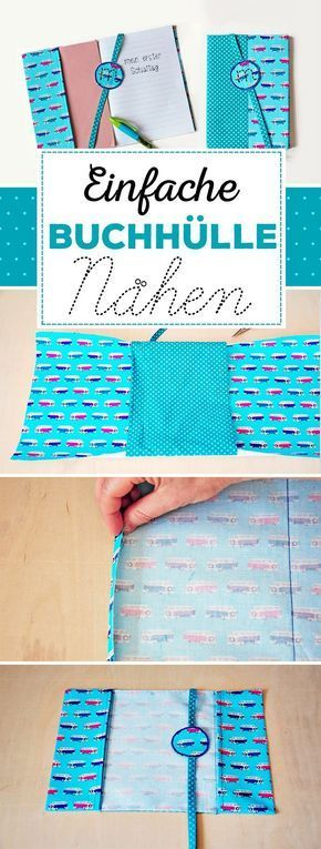 Sewing Book Cover for Beginners  School books and notebooks are given a colorful robe at the beginning of school Simple quick and