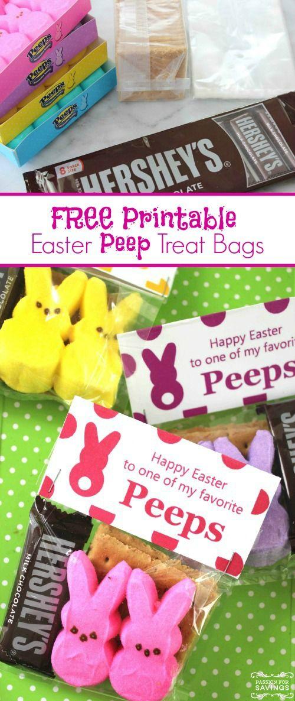 Free printable easter peep treat bags diy easter crafts and free printable easter peep treat bags diy easter crafts and homemade gift ideas negle Images