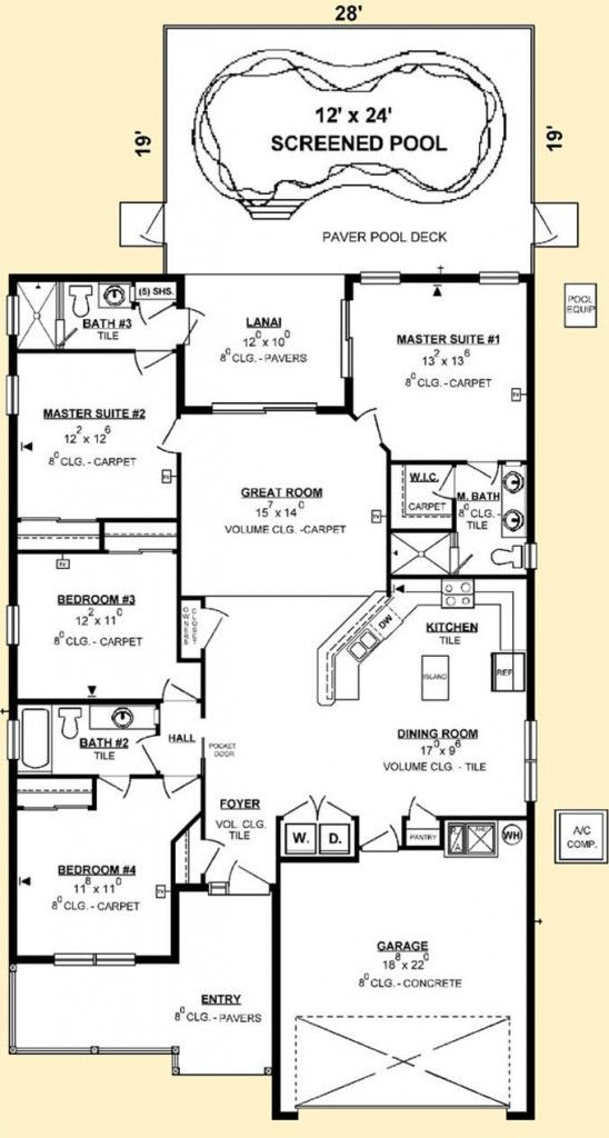 dual master bedroom house plans luxury house plans with two master suites for the home 18662