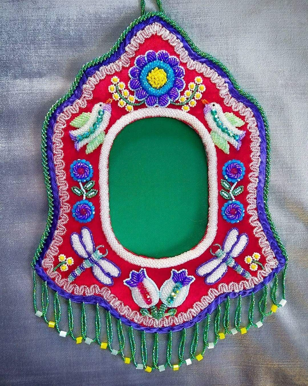 Tuscarora beaded picture frame by Grant Jonathan c. 2017 ...