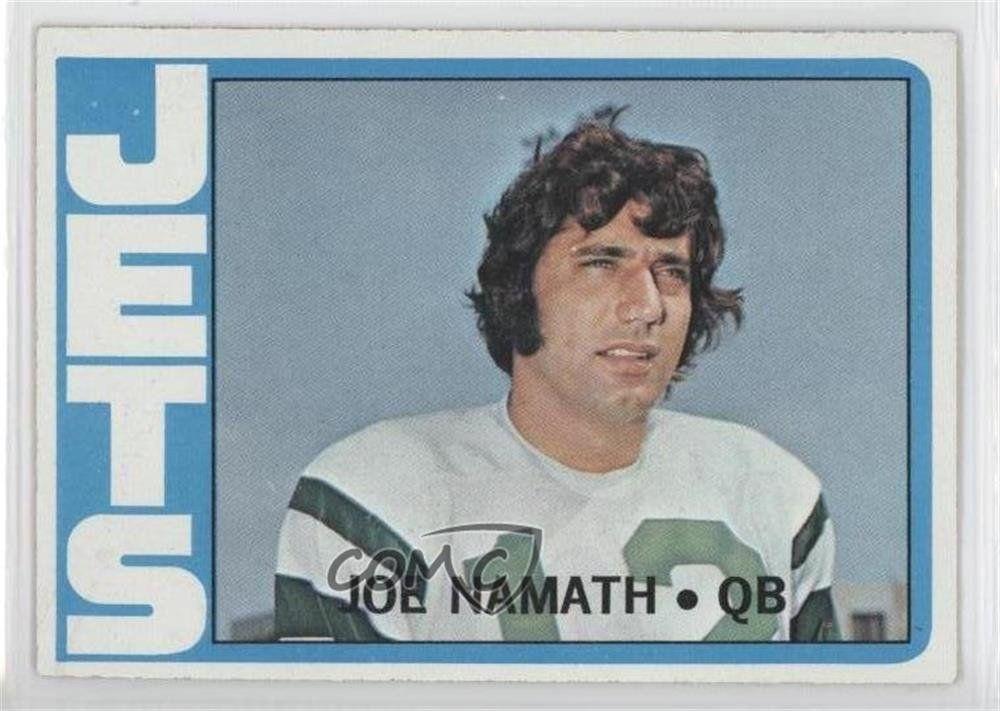 Buy joe namath 1972 topps football 100 nearmint sharp