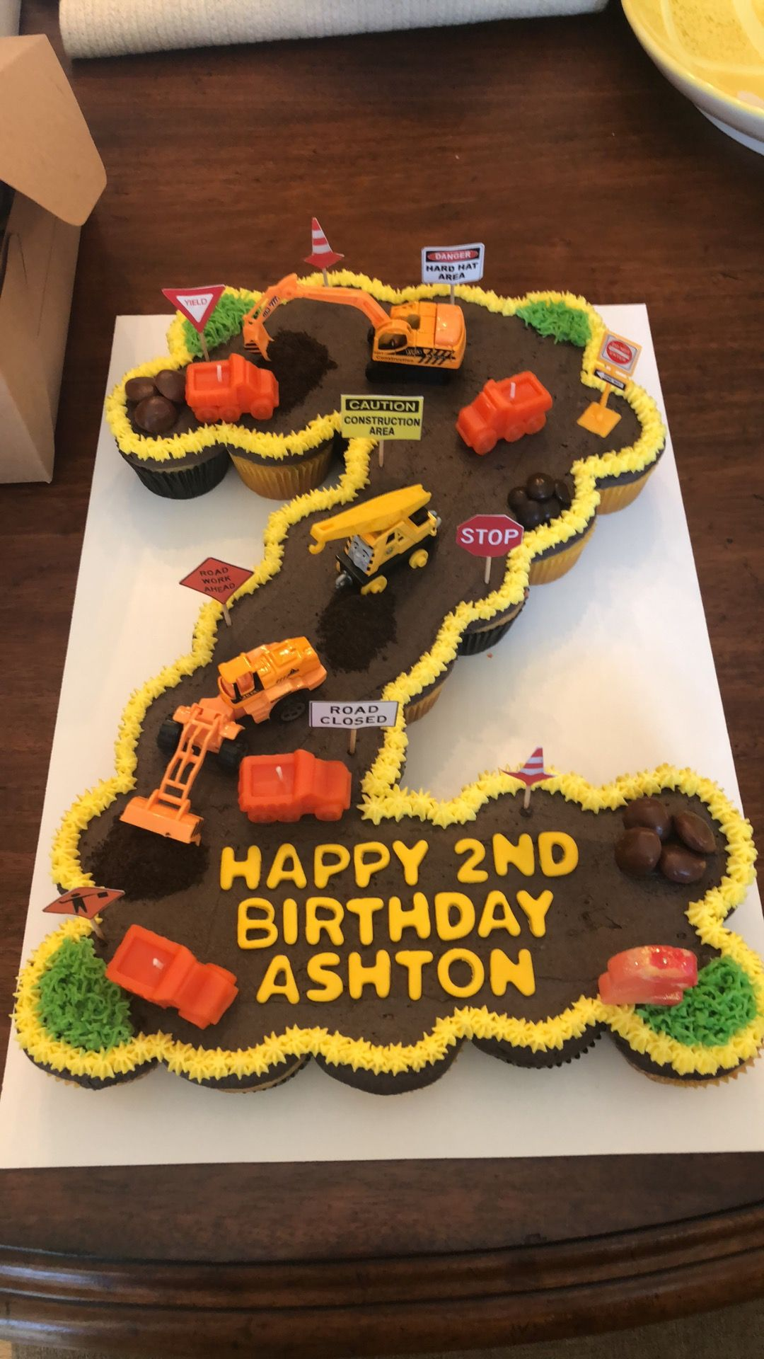 2nd Birthday Construction Theme Birthday Cake Made Out Of 24