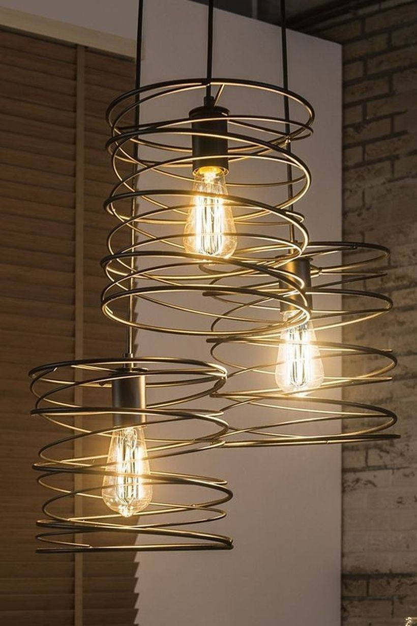 32 Inventive Diy Hanging Lamp Concepts For Your Distinctive Ornament In 2020 Industrial Lamp Design Lamp Decor Lamp Design