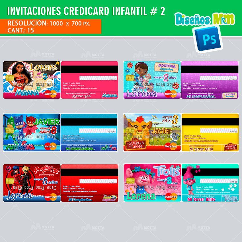 edd417e439814 Diseños PSD para tarjetas de INVITACIÓN CREDICARD  invitations  invitaciones   cumpleaños  mottaplantillas Invitaciones