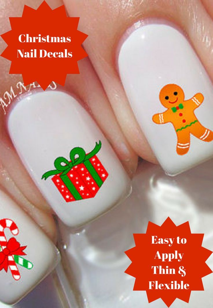 These Christmas Nail Decals Are Easy To Apply Because These - Make your own decal paper