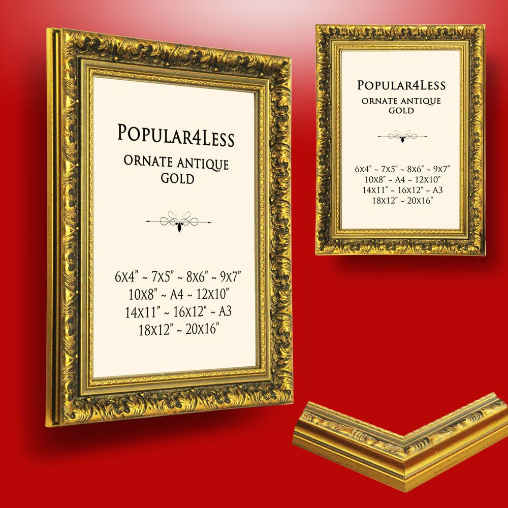 Details About Gold Ornate Antique Style Picture Photo Frames New Metal Picture Frames Gold Picture Frames Frame