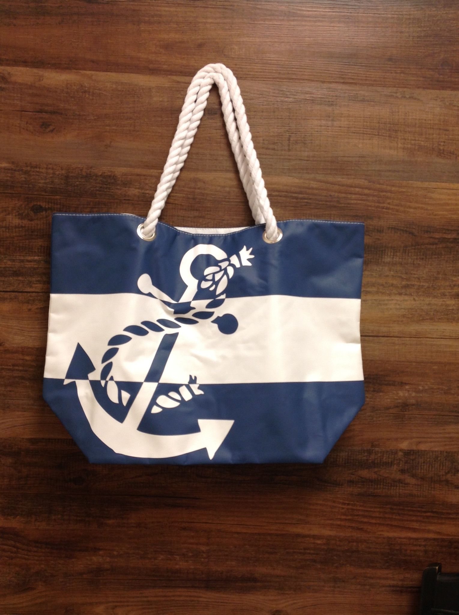 Anchor Beach Bag With Rope Handle