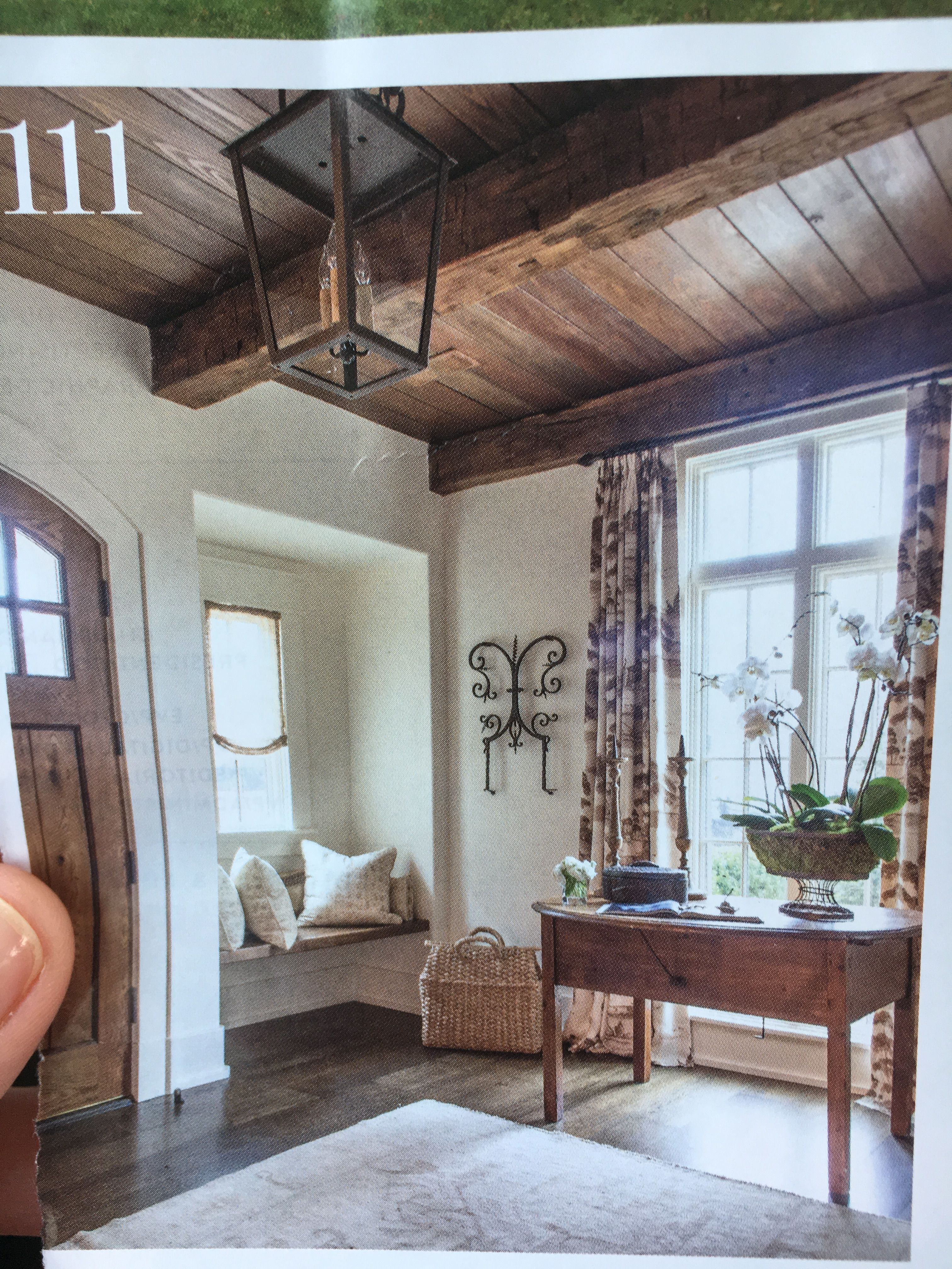 Ceiling, beam stain colors and ivory paint color Rustic
