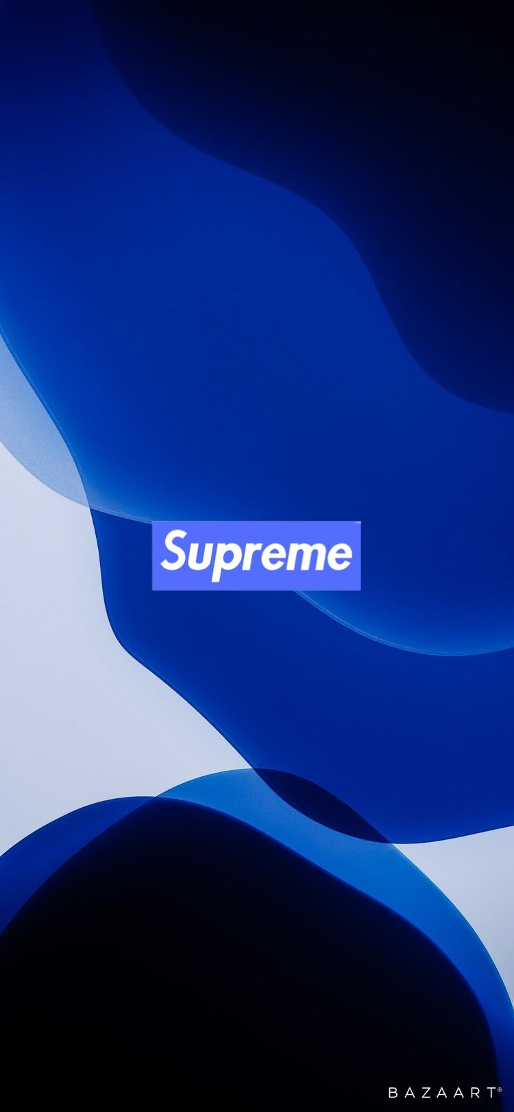 Supreme X Ios 13 Wallpaper In 2020 Black And Blue Wallpaper Hypebeast Wallpaper Jordan Logo Wallpaper