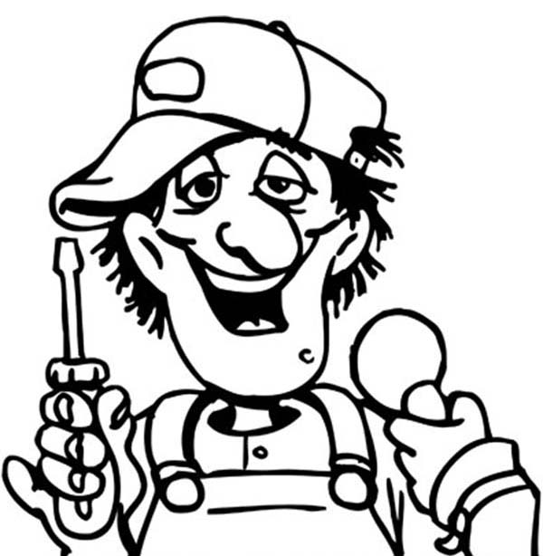 Mechanic Silly Face Coloring Page Coloring Sky Coloring Pages Silly Faces Silly
