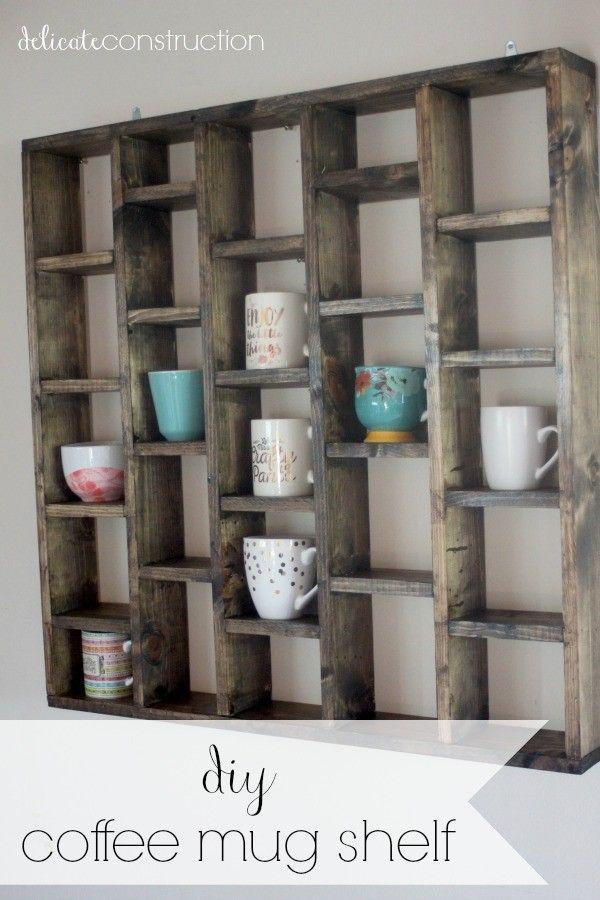 13 Easy Diy Coffee Mug Holders And Racks You Need At Home Diy Mugs Diy Toy Storage Mug Display