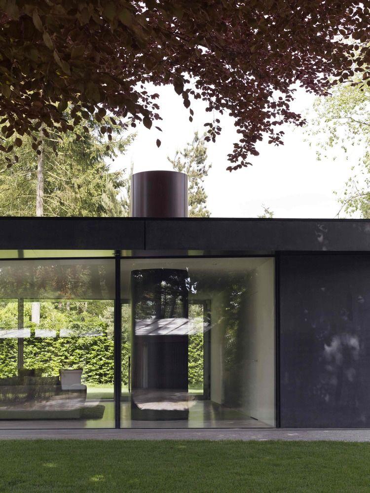 Wohnen Eine Ebene Haus Glas Wand Transparent Moderne Architektur  #traumhäuser #dreamhouse