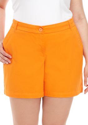 781ba69968bb Crown & Ivy™ Women's Plus Size Caroline Classic Shorts - Dark Orange - 18W