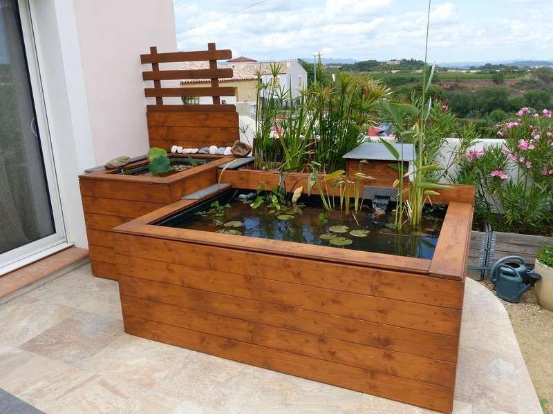 Nouveau bassin hors sol de patrice b bassin hors sol - Petit bassin de jardin ...