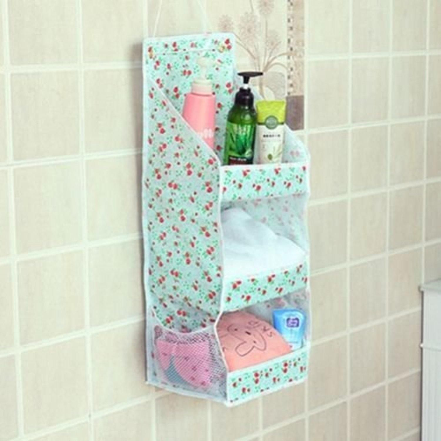 Cosmetic Hanging Bag Storage Case Toiletry Stand Holder Bathroom ...