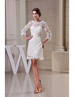 $129.99 A-Line Jewel Neck Knee Length All Over Floral ...