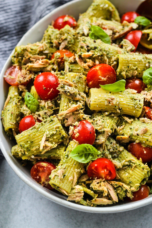 Tuna Pasta Salad With Pesto | Walder Wellness, Die
